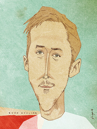 Ryan Gosling, Caricature, Portrait, Art Work, Hey Girl!